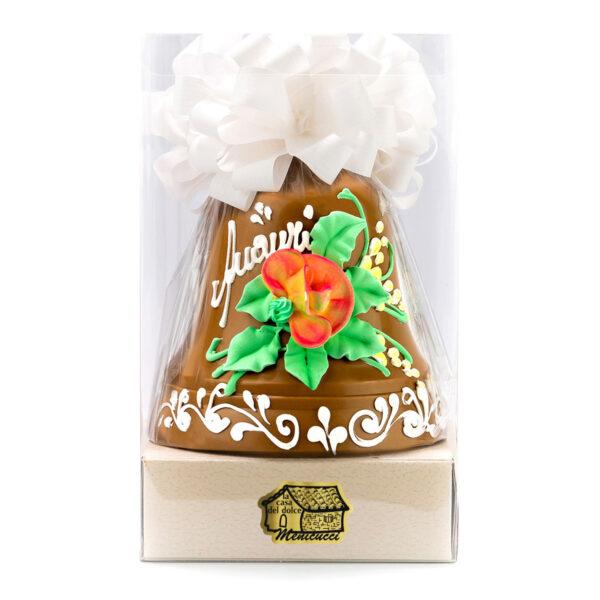 Campana di Cioccolato Gold Decorata a Mano