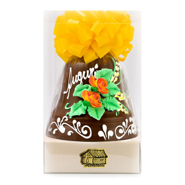 Campana di Cioccolato Finissimo al Latte Decorata a Mano