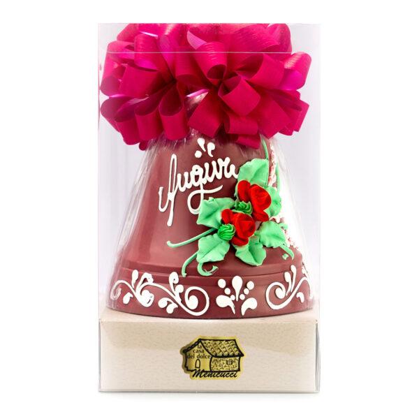 Campana di Cioccolato Ruby Decorata a Mano