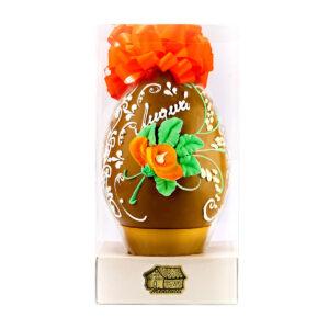 Uovo di Cioccolato Gold Decorato a Mano